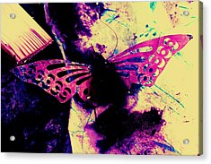 Acrylic Print featuring the photograph Butterfly Disintegration  by Jessica Shelton