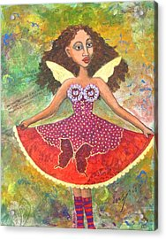 Butterfly Dress Acrylic Print by Sharon Woodward