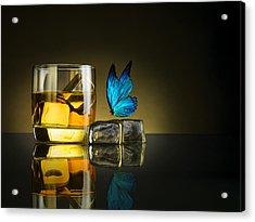 Butterfly Drink Acrylic Print by Jackson Carvalho