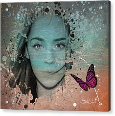Butterfly Eyes Acrylic Print by Isabel Salvador