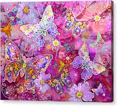 Butterfly Flower Land Acrylic Print