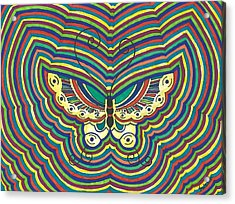 Acrylic Print featuring the painting Butterfly Flutter by Susie Weber