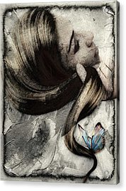 Butterfly In Her Hair Acrylic Print by Gun Legler