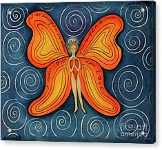 Butterfly Mantra Acrylic Print by Deborha Kerr