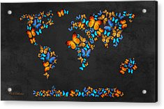 Butterfly Map Acrylic Print