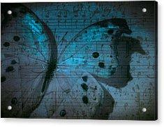 Butterfly Midnight Symphony Acrylic Print by Marianna Mills