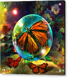 Butterfly Monarchy Acrylic Print by Robin Moline