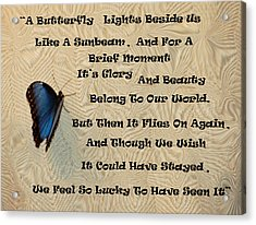 Butterfly Poem Acrylic Print