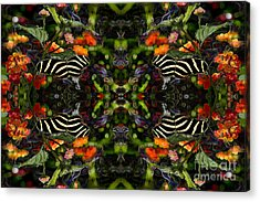 Acrylic Print featuring the digital art Butterfly Reflections 03 - Zebra Heliconian by E B Schmidt