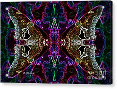 Acrylic Print featuring the digital art Butterfly Reflections 08 - Silver Spotted Skipper Reflections by E B Schmidt