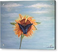 Butterfly Sunday Full Length Version Acrylic Print by Kimberlee Baxter