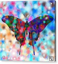 Butterfly Watercolor Print By Rr Acrylic Print