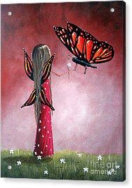 Butterfly Whisperer By Shawna Erback Acrylic Print by Shawna Erback