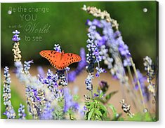 Butterfly With Message Acrylic Print