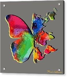 Butterfly World Map 2 Acrylic Print by Mark Ashkenazi