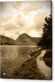 Buttermere Bright Sky Acrylic Print by Kathy Spall