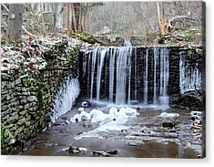 Buttermilk Falls 2 Acrylic Print by Anthony Thomas