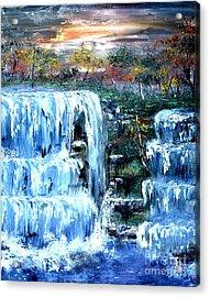 Buttermilk Falls Acrylic Print by Denise Tomasura