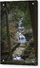 Buttermilk Falls In Autumn IIi Acrylic Print
