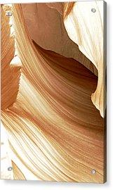 Butterscotch Taffy Antelope Canyon Acrylic Print
