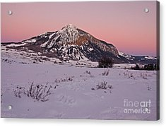 Butte's Winter Glow Acrylic Print