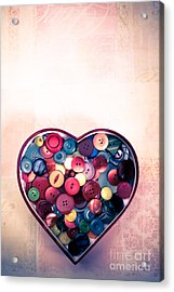 Button Love Acrylic Print