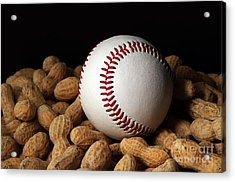 Buy Me Some Peanuts - Baseball - Nuts - Snack - Sport Acrylic Print by Andee Design