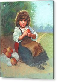 Buy My Apples Acrylic Print by Janet McGrath