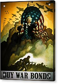 Buy War Bonds Acrylic Print by Robert Geary