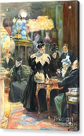 Buying Christmas Presents 1895 Acrylic Print by Padre Art