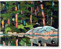 Buzzard Lake Sunset Shore Acrylic Print