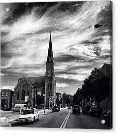 Bw Hanover Street Acrylic Print