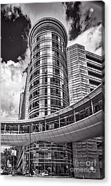 Bw Houston Architecture Acrylic Print by Tod and Cynthia Grubbs