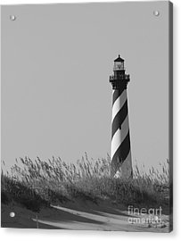 Bw Of Hatteras Lighthouse Acrylic Print