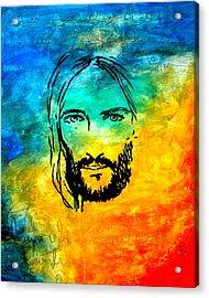 By Faith Acrylic Print by Ivan Guaderrama