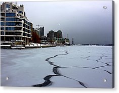 By Frozen Harbour Acrylic Print by Nicky Jameson