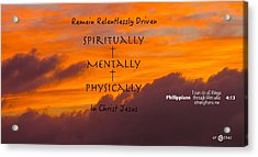By His Power We Are Driven Acrylic Print by David  Norman