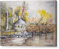 Gazebo At Lake Wylie Acrylic Print