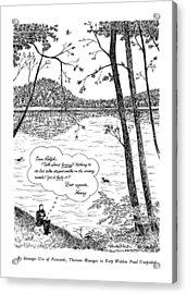 By Strategic Use Of Postcards Acrylic Print by J.B. Handelsman