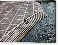 By The Banks Of Seine  Acrylic Print by Aleksander Rotner