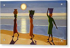 By The Beach Acrylic Print by Tilly Willis