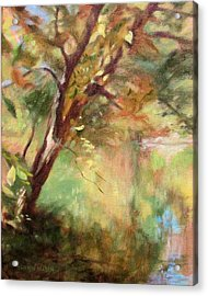 By The Greenway In Autumn- Along The Roanoke River Acrylic Print