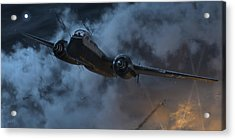 Nightfighter Acrylic Print by Robert Perry