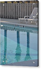 By The Pool Acrylic Print