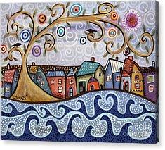 By The Sea Acrylic Print by Karla Gerard