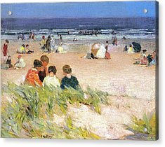 By The Shore Acrylic Print by Edward Potthast