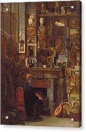 By The Studio Fire, 1860 Acrylic Print by John Dawson Watson