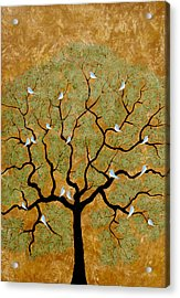 By The Tree Re-painted Acrylic Print