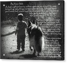 By Your Side Paw Print Acrylic Print