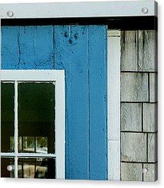 Old Door In Blue Acrylic Print